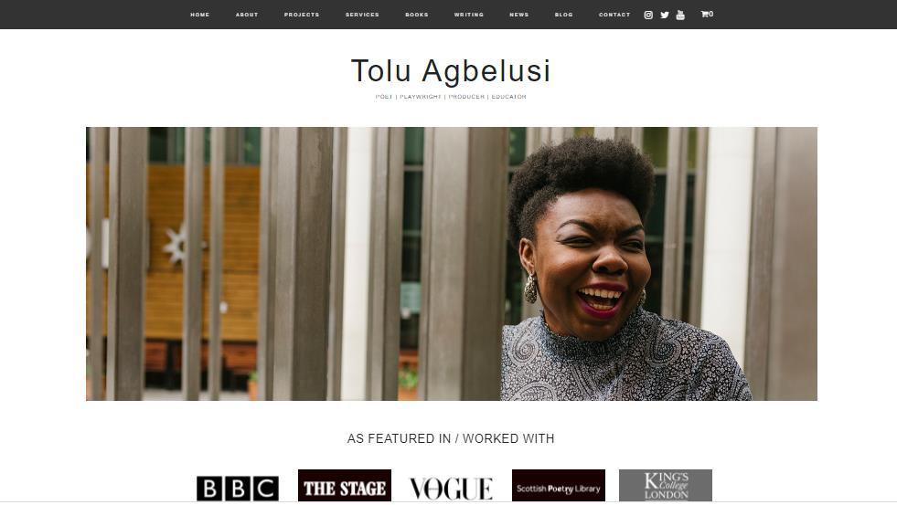 Tolu Agbelusi homepage